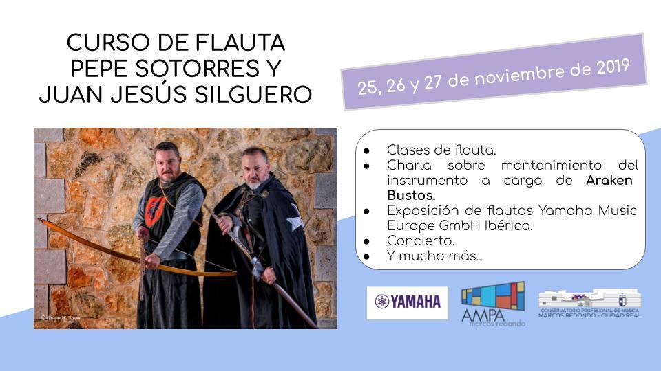 Curso de flauta con Pepe Sotorres y Juan Jesús Silguero