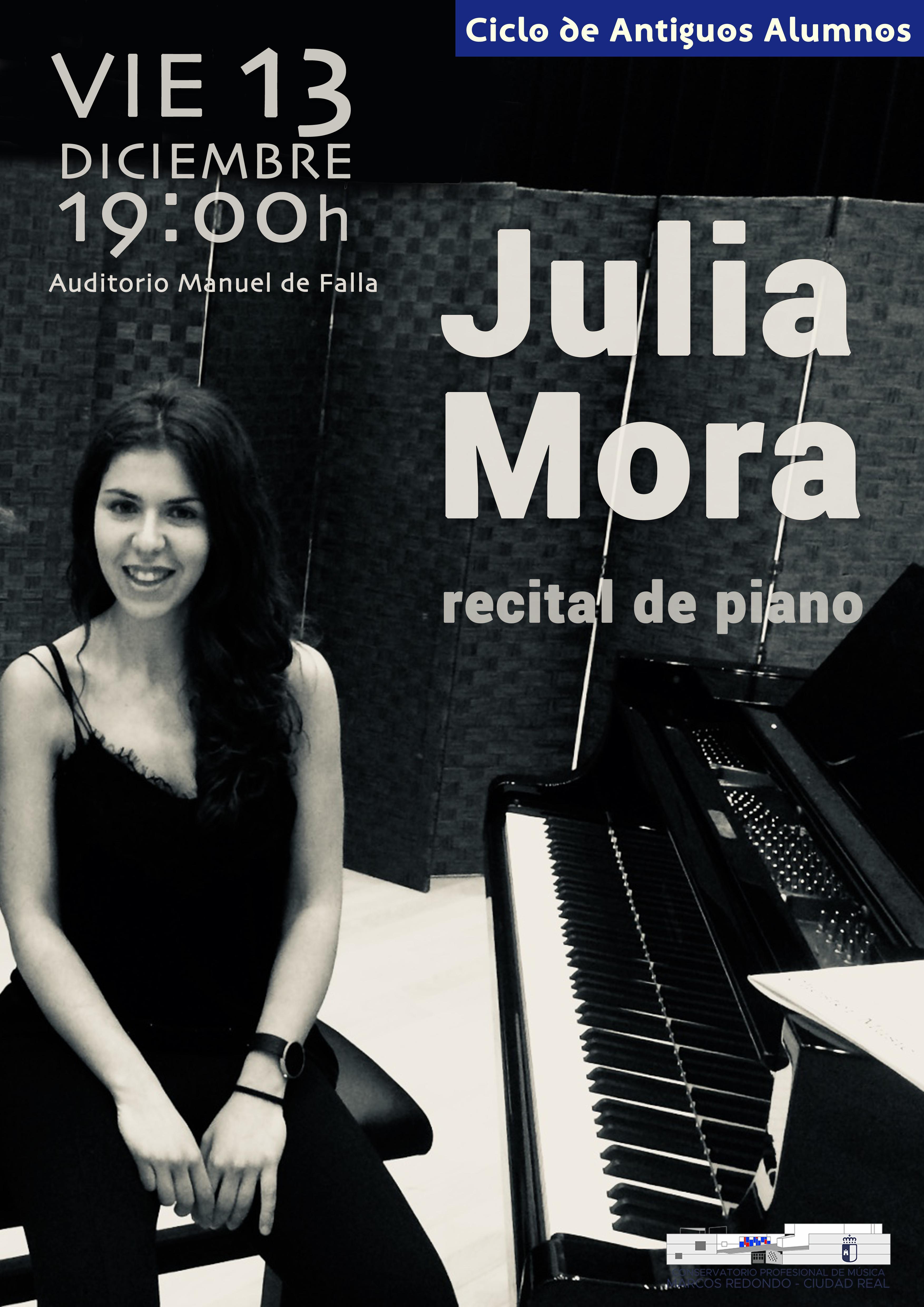 Ciclo de Antiguos Alumnos: Recital de piano de Julia Mora